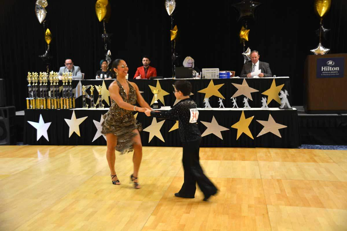 Victor Grigorov participate at Ballroom Dance Competiton thanks to Kids Ballroom Dance Lessons Program